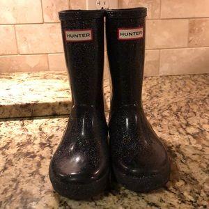 Sparkly black Hunter Rain Boots